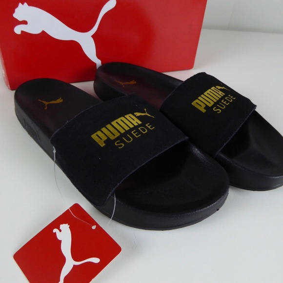 competitive price e7e47 99c2e Puma Leadcat Suede Leather Slide Sandals NIB Mens NWT